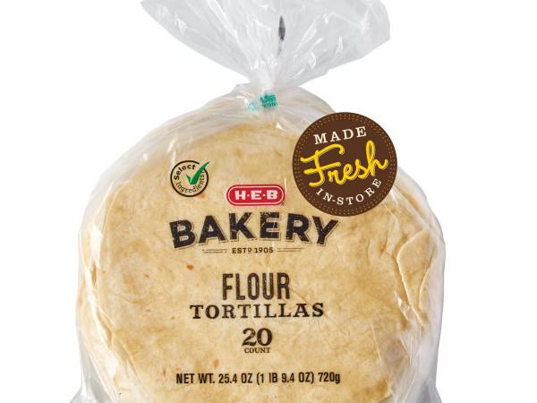 H-E-B flour tortillas