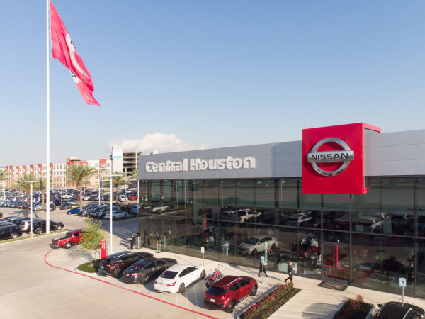 Central Houston Nissan exterior outside