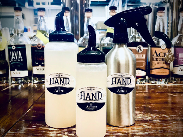 Acre Distilling hand sanitizer