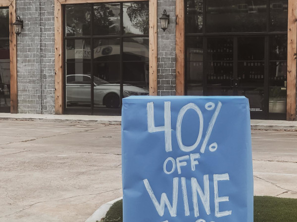 La Grande Rue wine discount sign
