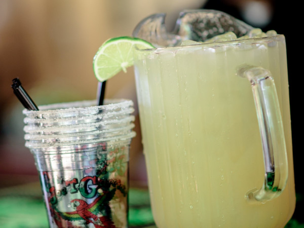 Joe T. Garcia's margaritas pitcher
