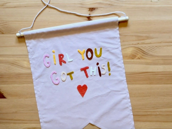 Ruby City Positivity Banner DIY
