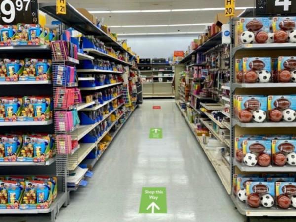 Walmart aisles