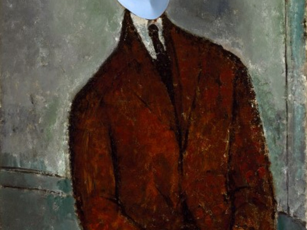 MFAH art mask Amedeo Modigliani, Léopold Zborowski, c. 1916, oil on canvas
