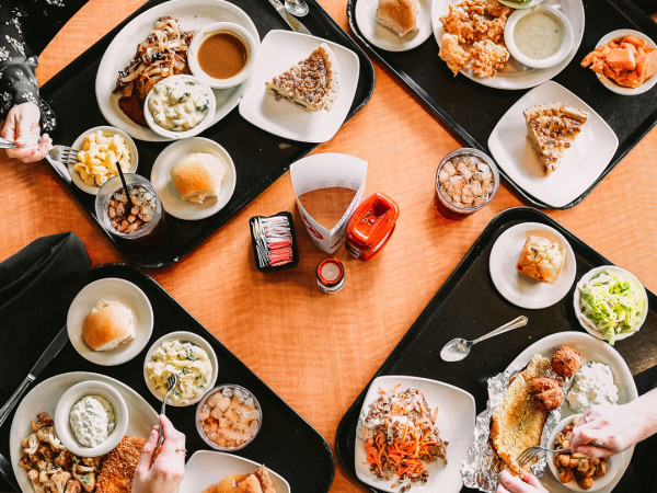 Luby's food spread