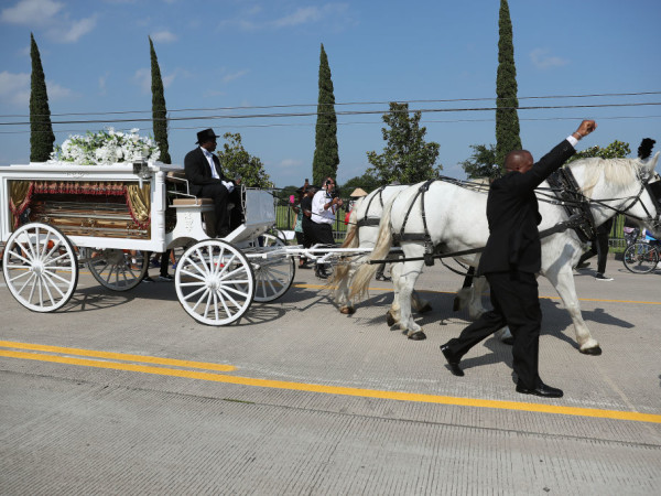 George Floyd funeral Houston casket