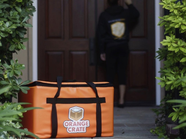 Orange Crate delivery bag