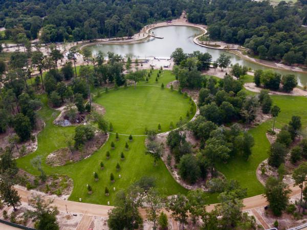 Memorial Park Eastern Glades aerial