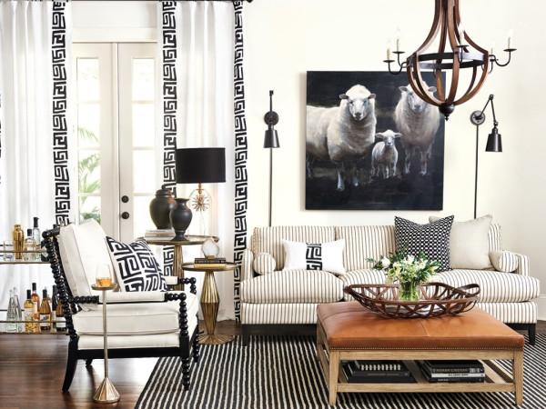Ballard Designs living room