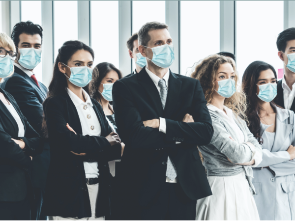 Doctors wearing face masks