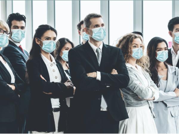 Doctors wearing face masks