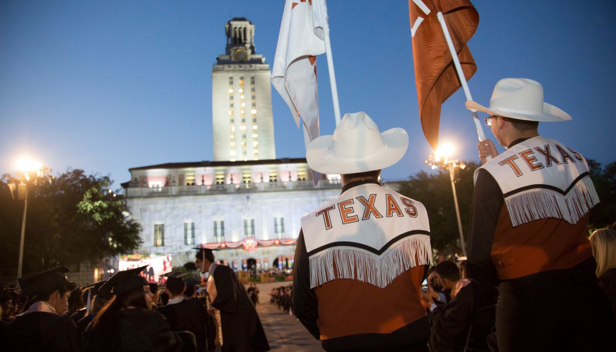 UT Austin university of texas campus commencement tower