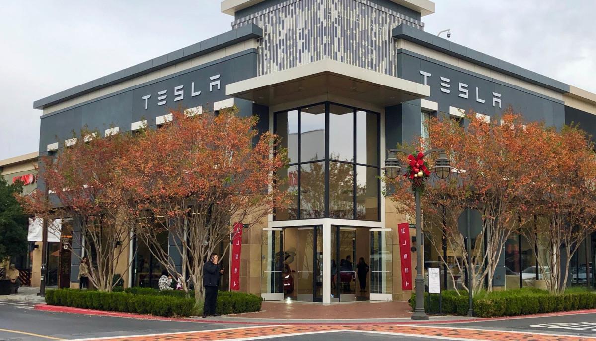 Tesla exterior showroom