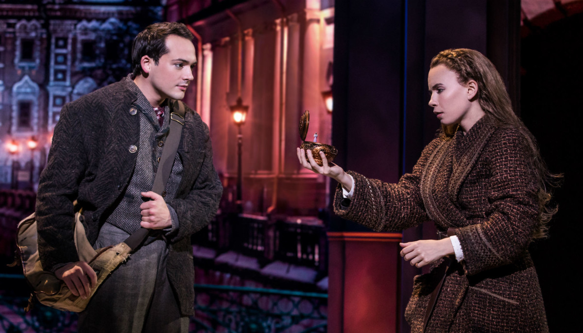 Stephen Brower and Lila Coogan in the national tour of Anastasia