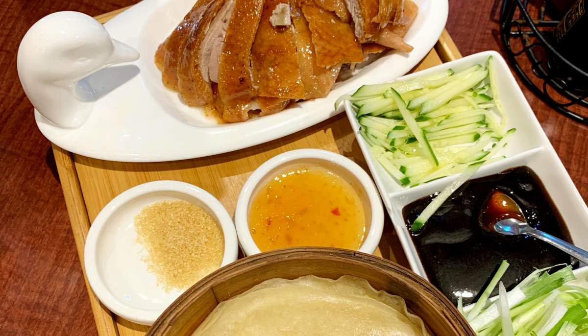 Bamboo House peking duck platter