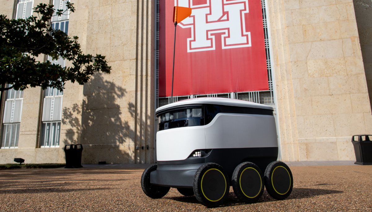 University of Houston rolls out futuristic food delivery robots