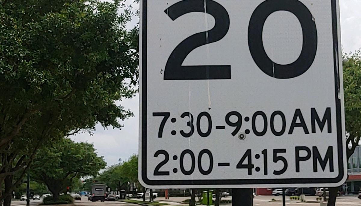 Ken Hoffman Southside Place speed sign