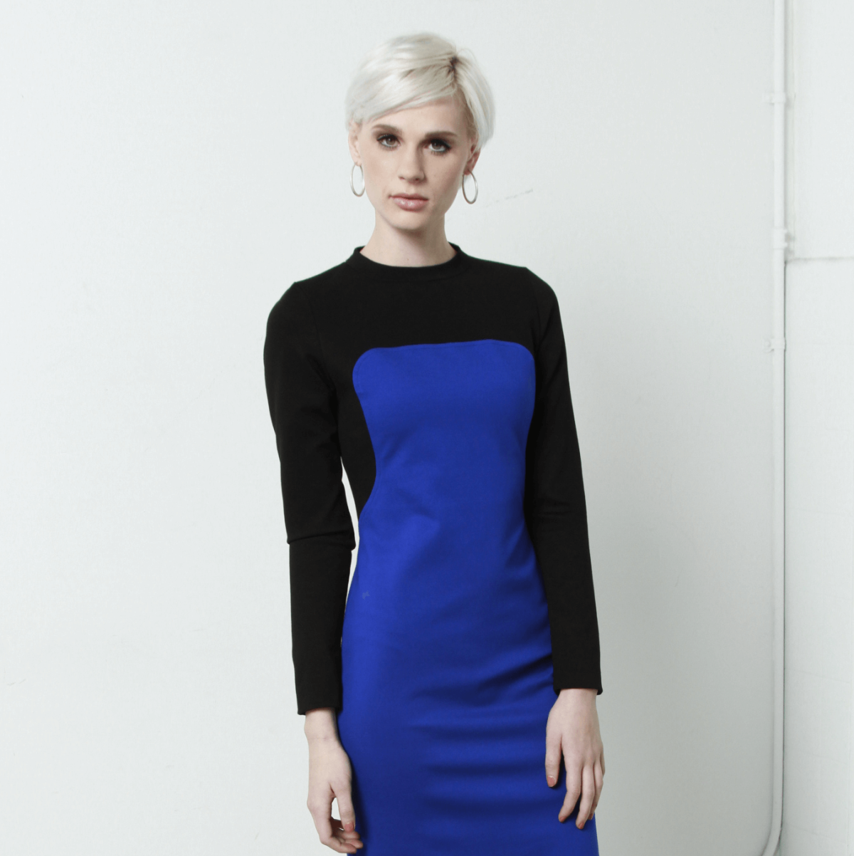 Kevan Hall bib dress