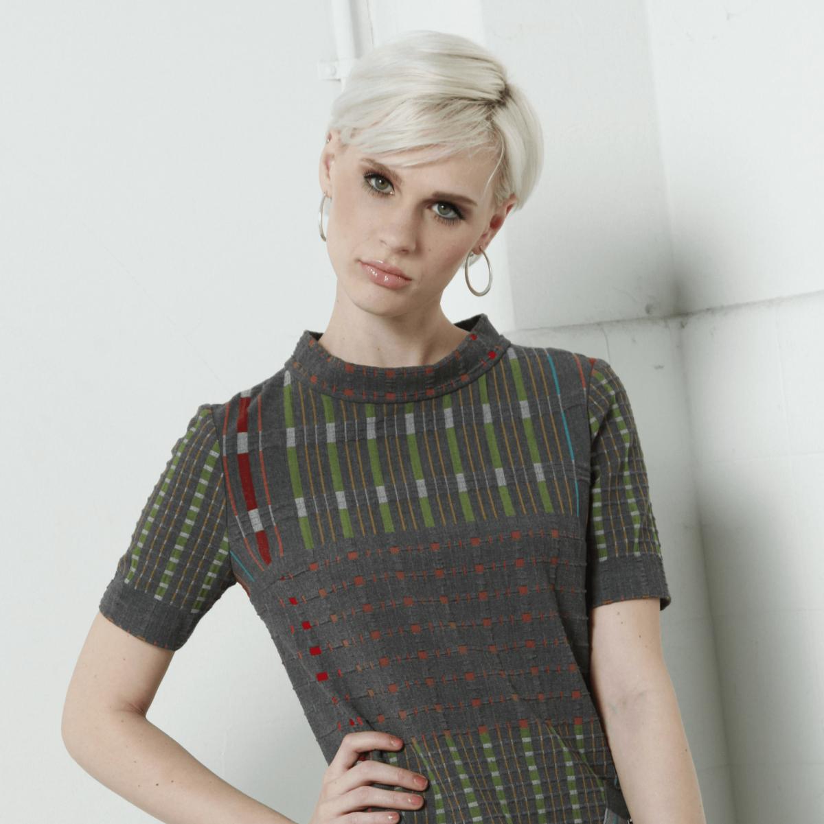 Kevan Hall metallic chain dress