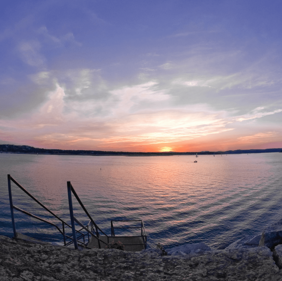 Windy Point Park Lake Travis sunset