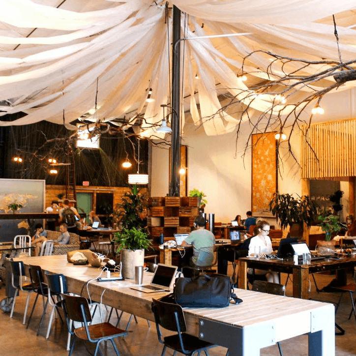 Impact Hub at Vuka Monroe Austin coworking office