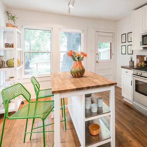 Austin home house Houzz midcentury bachelor pad 2016