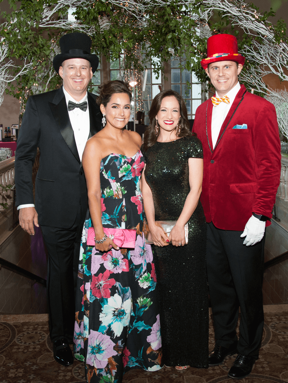 Houston, Childrens Museum of Houston Mad Hatters Ball, Oct. 2016, Truett Akin, Elva Akin Meeks, Monica Meeks