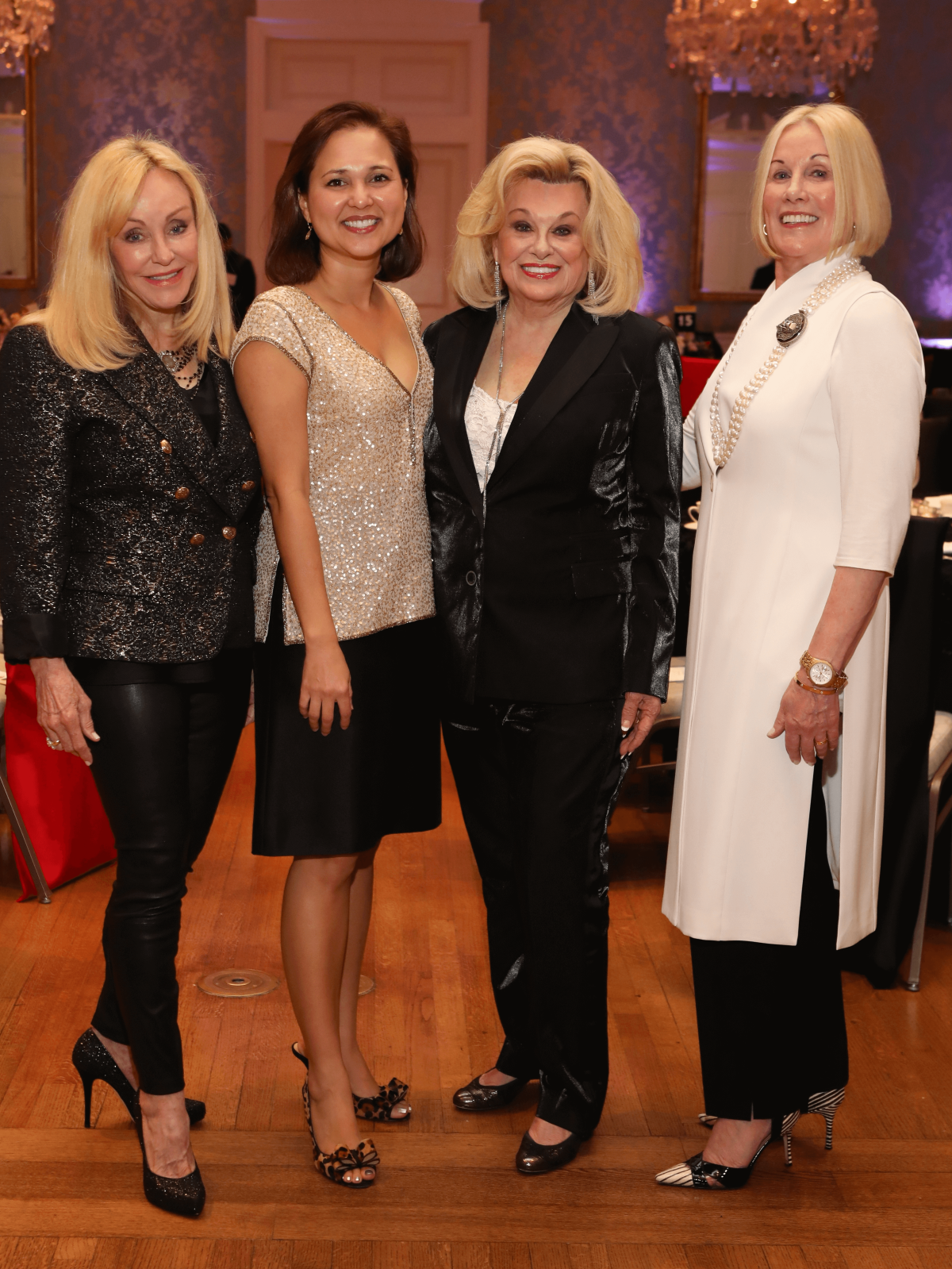 Houston, Barc Foundation's Barc On Broadway ball, Oct 2016, Judi McGee, Elizabeth Brock, Sidney Faust, Elsie Eckert