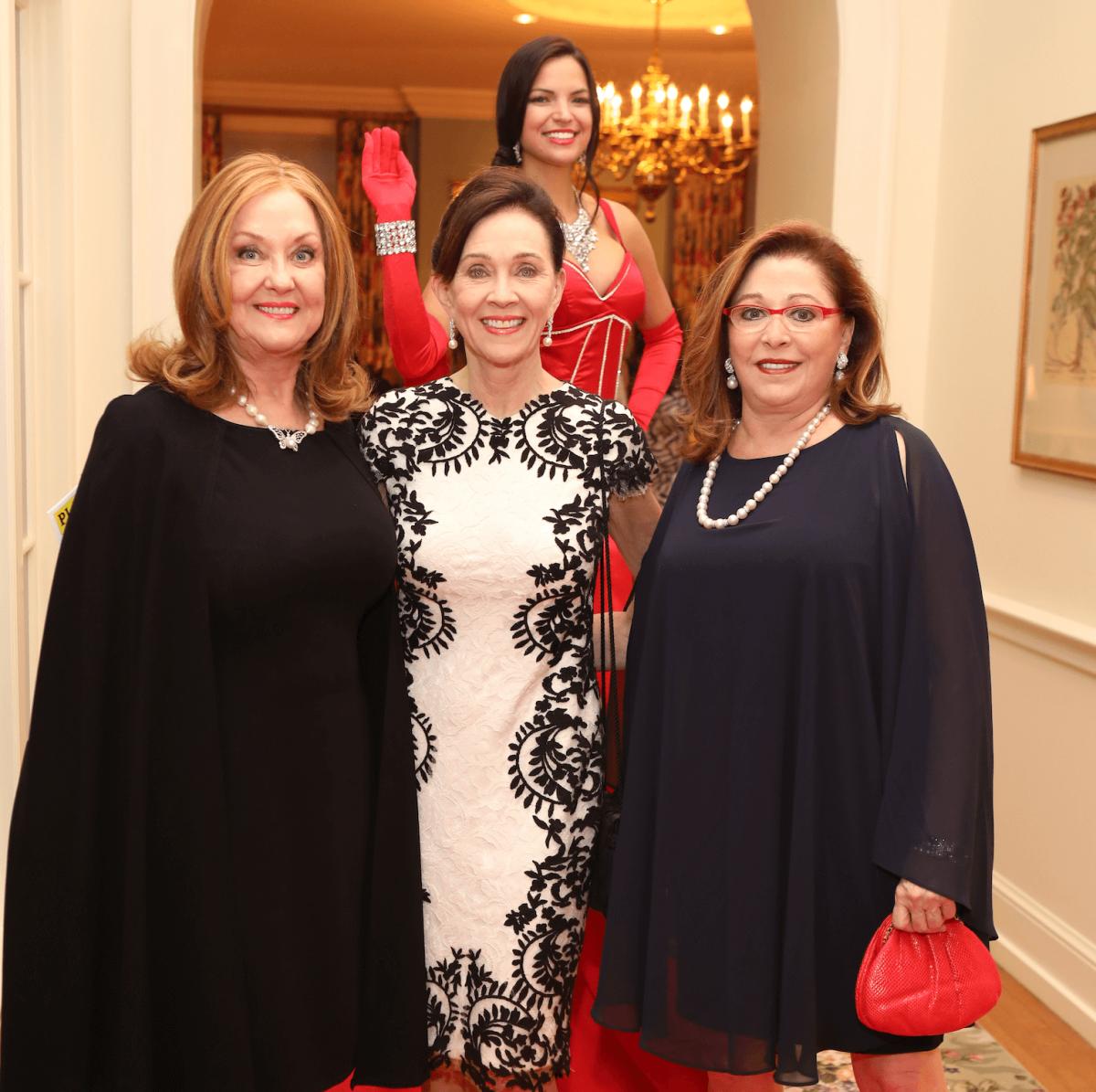 Myra Wilson, Robin Simon, Suzy Simons at BARC gala