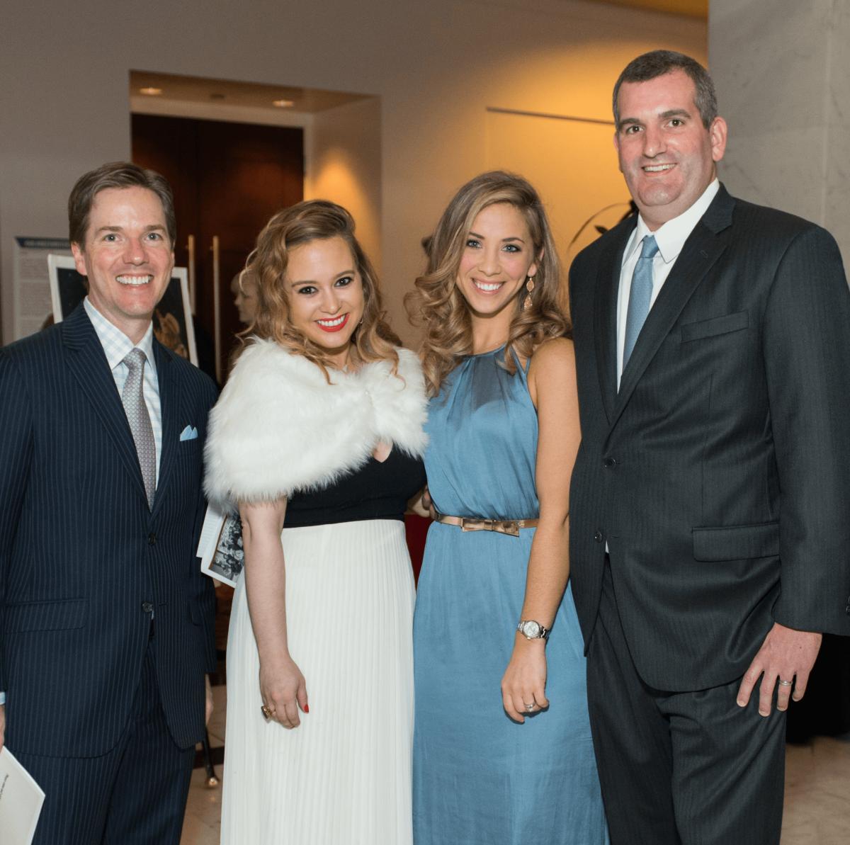 David Kennedy, Megan Blaisdell, Bethany Hibbetts, Matthew Hibbetts at Mission of Yahweh gala