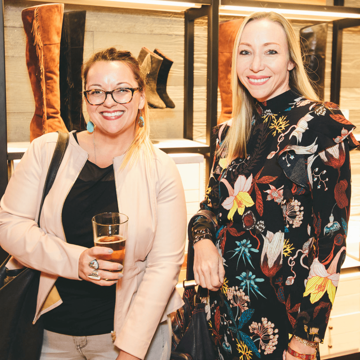 The Frye Company Austin grand opening 2016 Lisa Munoz Niki Jones