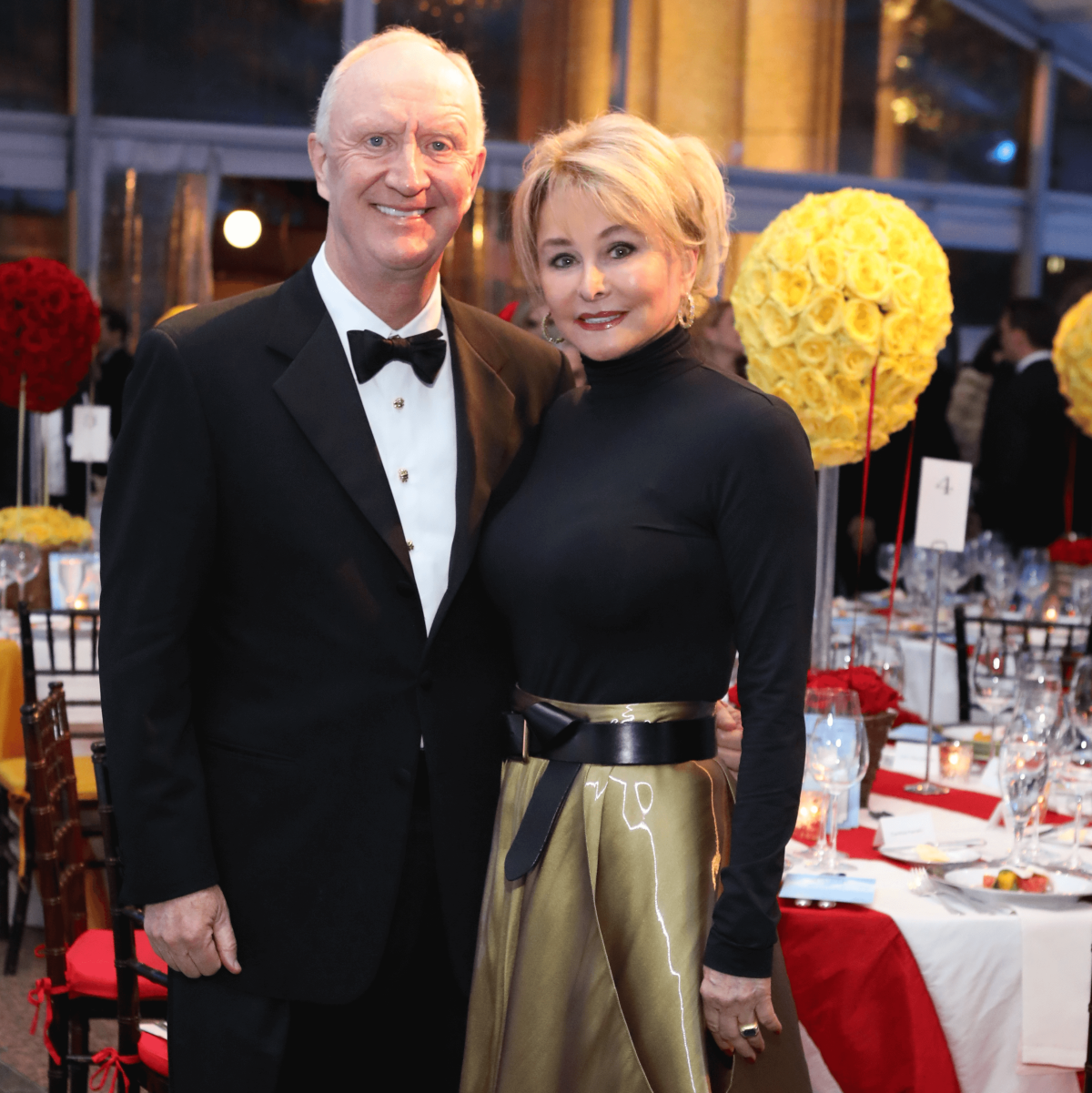 Frank and Michelle Hevrdejs at Houston Grand Opera opening night