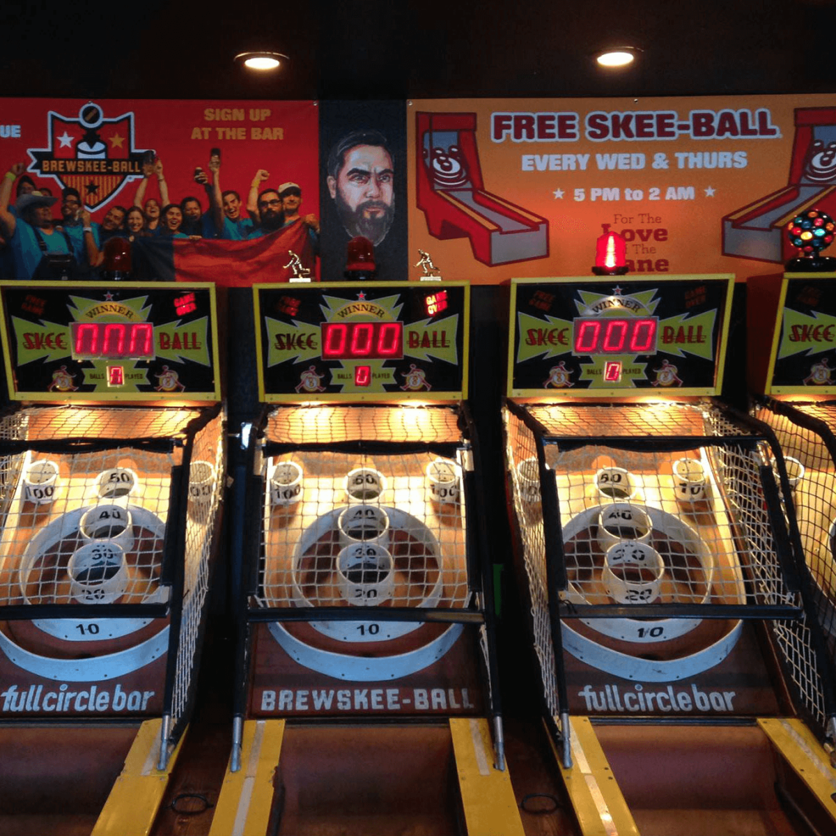 Full Circle Bar brewskee-ball games
