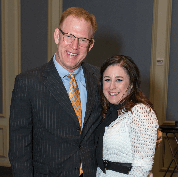 Darren Wickham and Junior League of Dallas Financial Vice President Melissa Wickham
