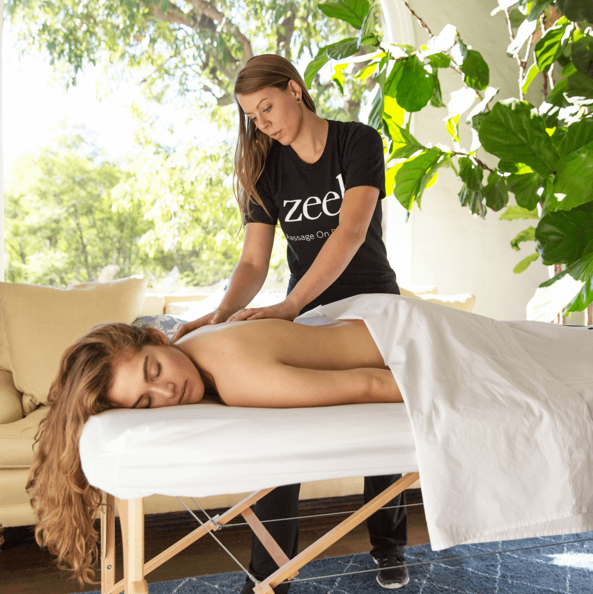Zeel massage on demand app therapist in home