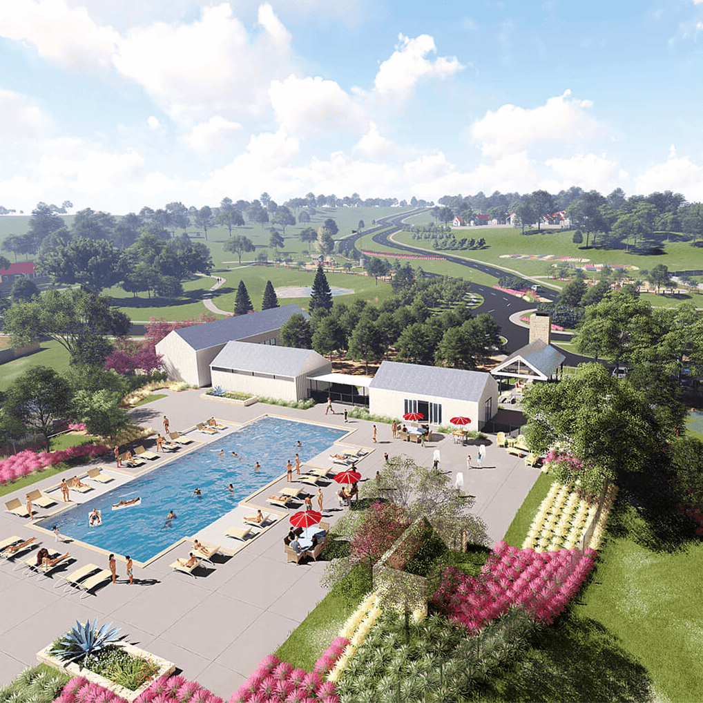 Orchard Ridge housing development Liberty Hill amenity center rendering