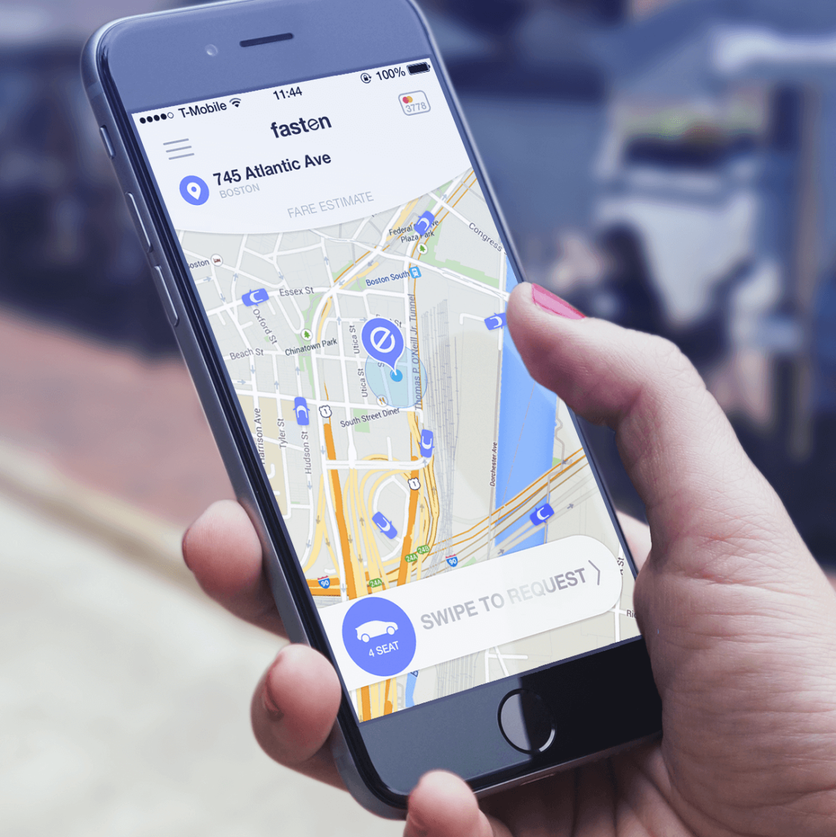 Fasten ride sharing hailing TNC Boston app phone