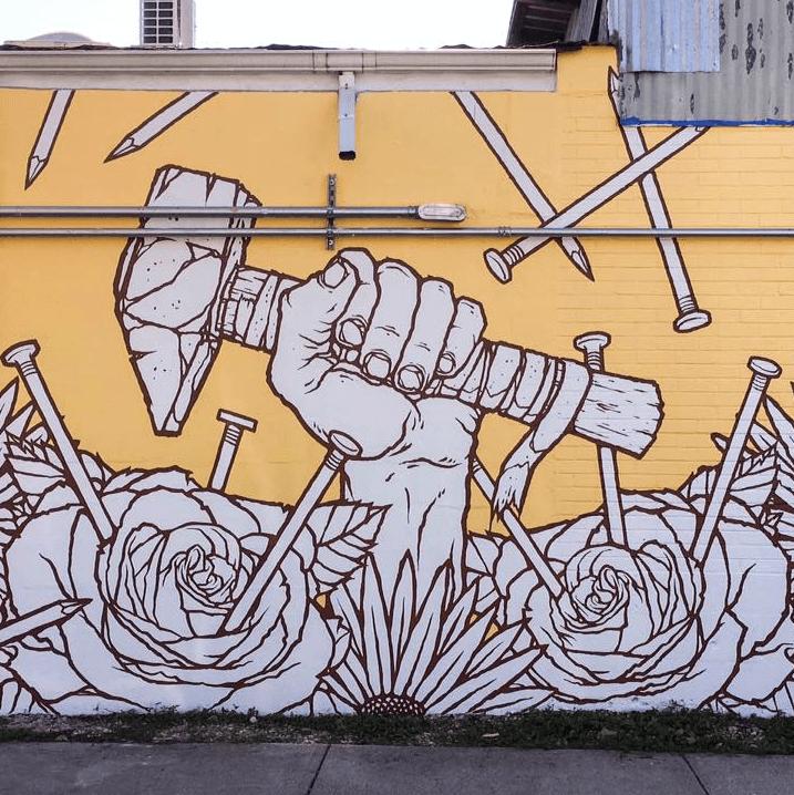 Reclaimed Wood ATX mural
