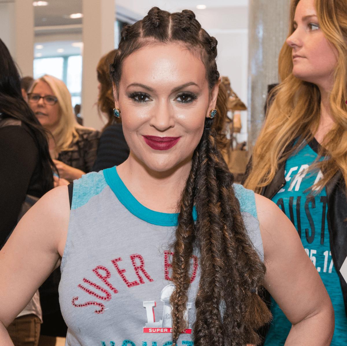 Alyssa Milano/NFL Wives Fashion Show