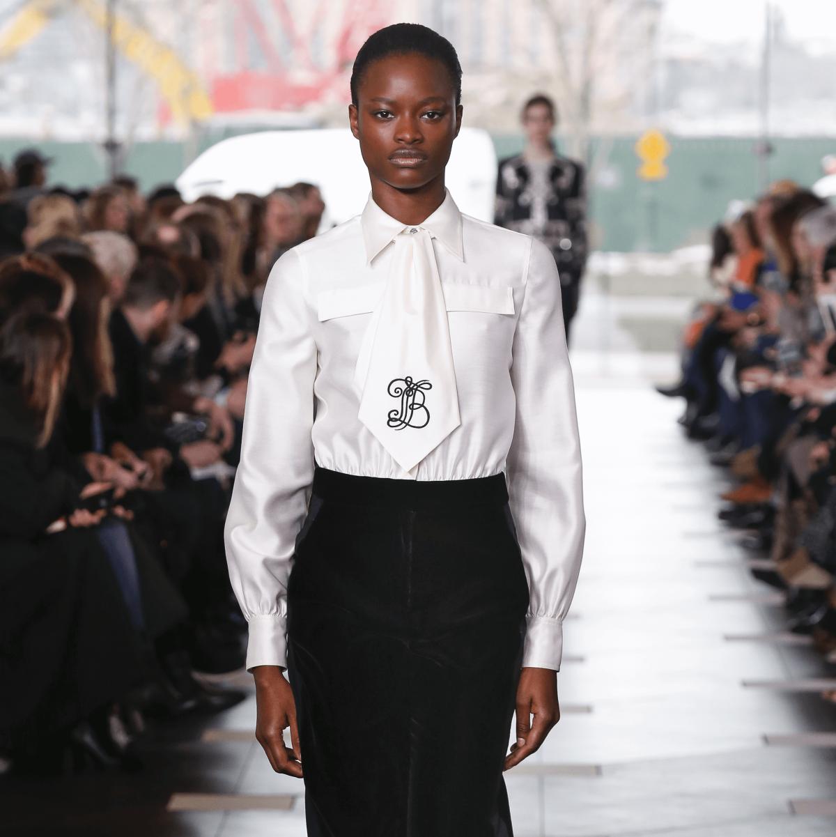 Tory Burch monogrammed blouse look 34