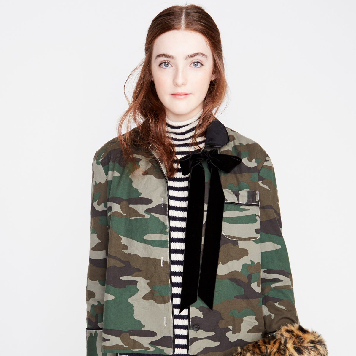 Julianne Moore daughter Liv Freundlich modeling J.Crew fall collection