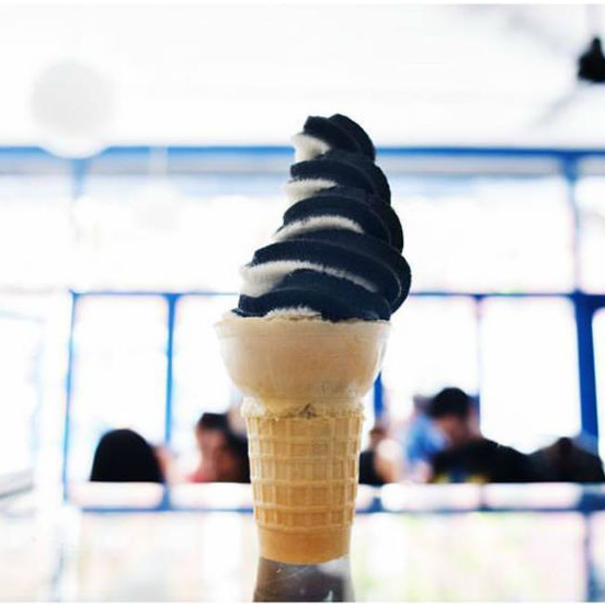 Black ash ice cream