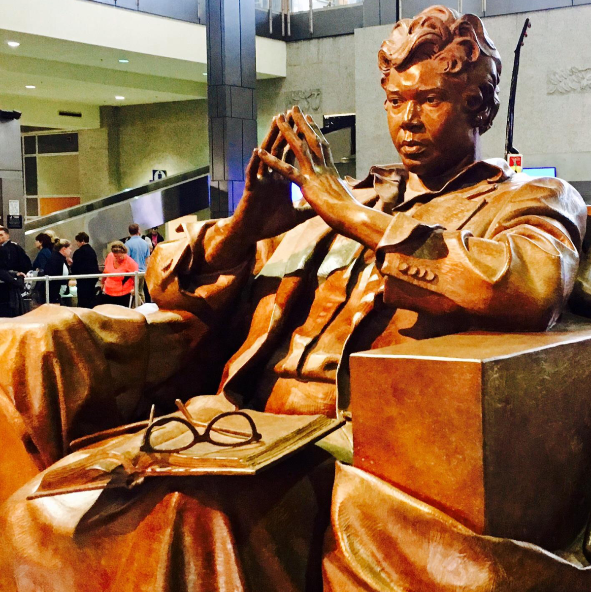 Barbara Jordan statue Austin-Bergstrom International Airport ABIA