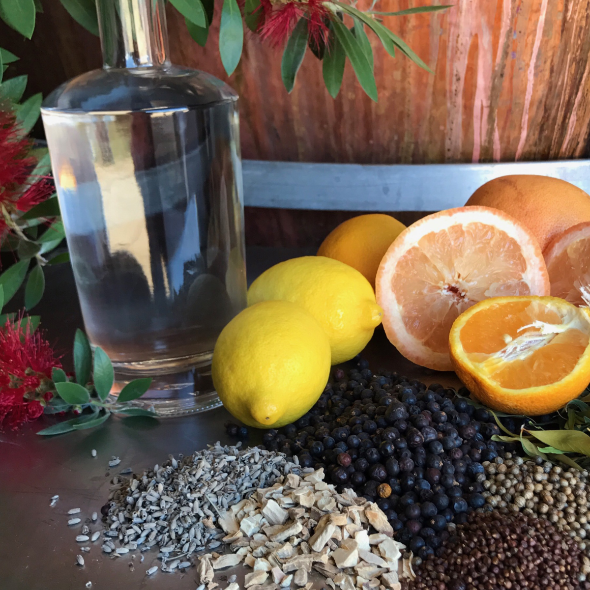 Real Spirits gin botanicals