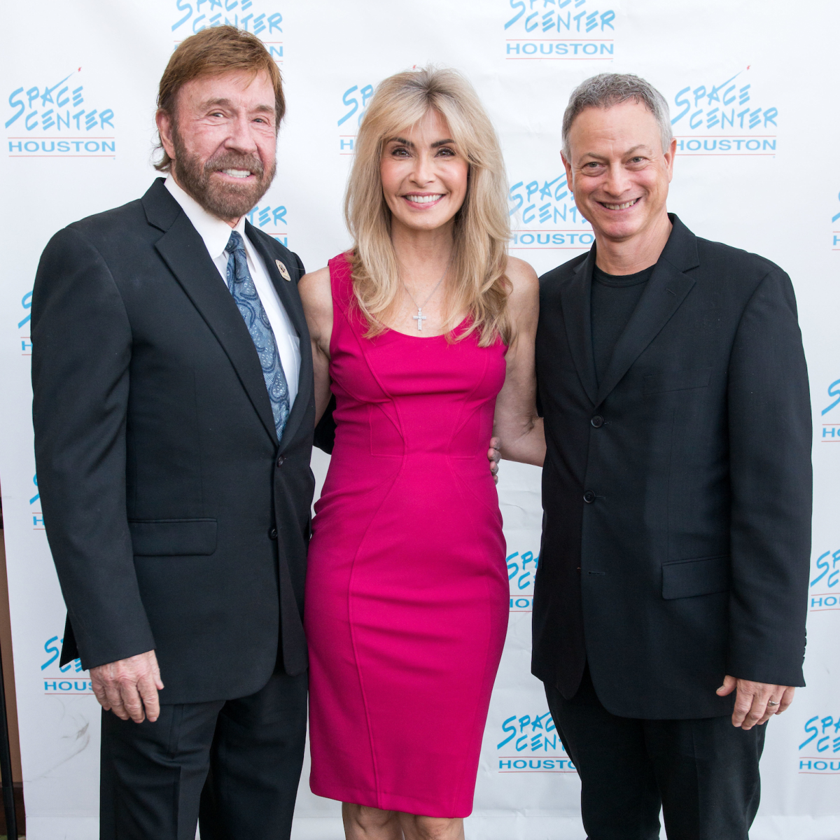 Houston, Space Center Houston Galaxy Gala, April 2017, Chuck Norris, Gena Norris, Gary Sinise