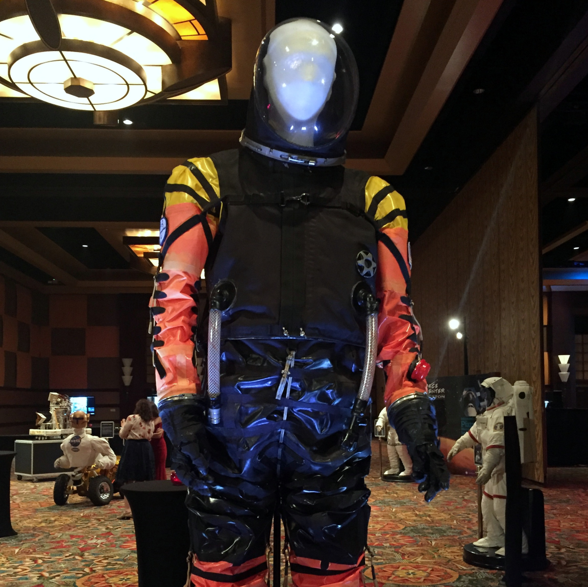 Houston, Space Center Houston Galaxy Gala, April 2017, spacesuit prototype NASA