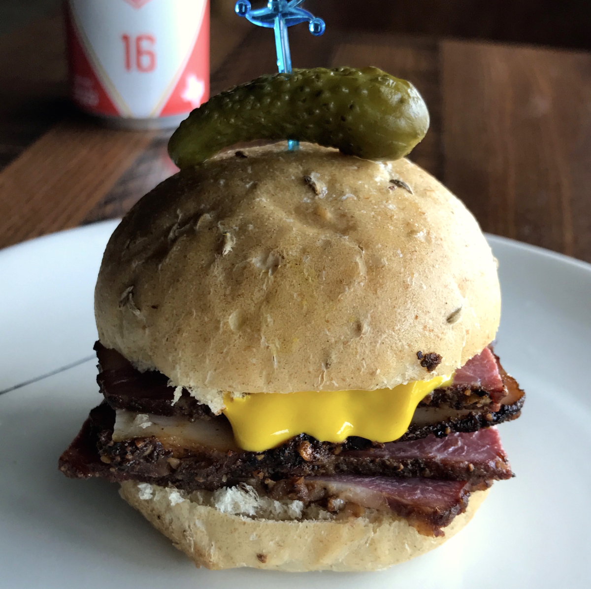 Houston, new happy hour deals, March 2017, Riel, Montreal Smoked Meat Sando