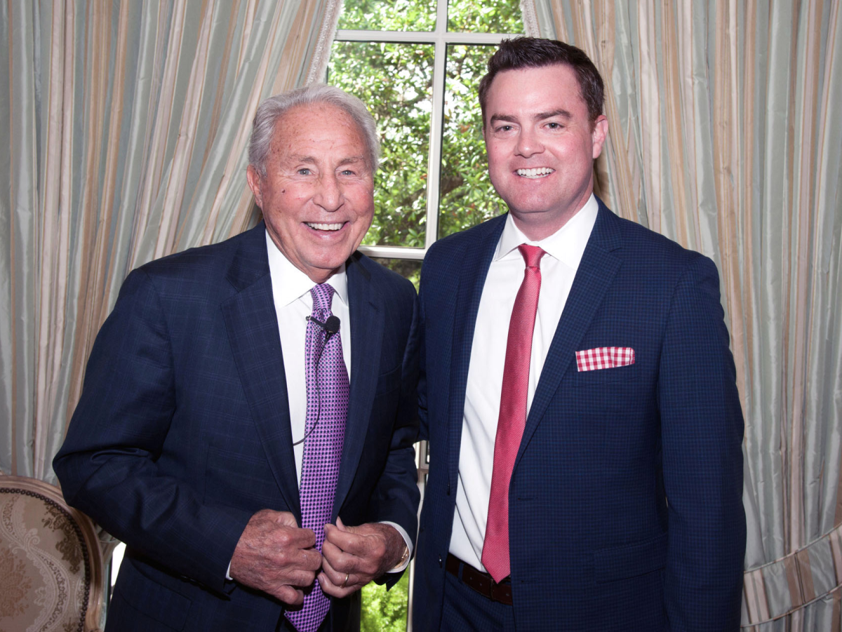 Houston, Aphasia luncheon with Lee Corso, April 2016, Lee Corso, Drew Dougherty