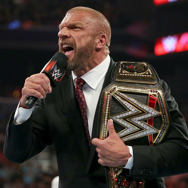 WWE heavyweight champion Triple H