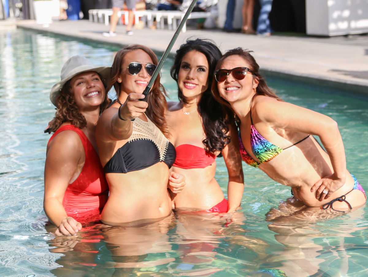 CultureMap Social The W Hotel Wet Deck Pool Selfie Stick